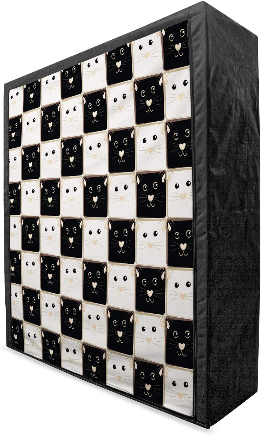 Ambesonne Sacramento Popularity Mall Checkers Game Portable Squa Wardrobe Checkered Fabric