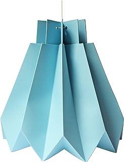 Sospensione di origami DIY in carta celeste
