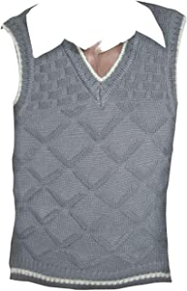 Rimi Hanger Adults Sleeveless Evacuee Knitted Jumper Mens V Neck Fancy Party Wear Sweater Top One Size