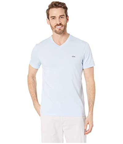 Lacoste Short Sleeve Striped Jersey Raye T-Shirt Regular Fit (Creek/Flour) Men