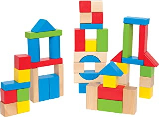 Hape E0409 Maple Wood Kid's Builidng Blocks in Assorted Shapes and Size
