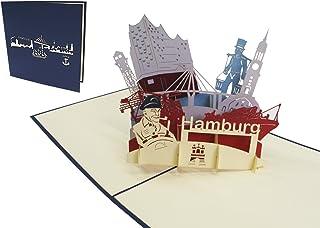 LIN 3D POP UP Karte Grußkarten Reisegutschein Geburtstag Ka
