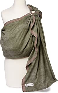 Hip Baby Wrap Ring Sling Baby Carrier for Infants and Toddlers (Olive)
