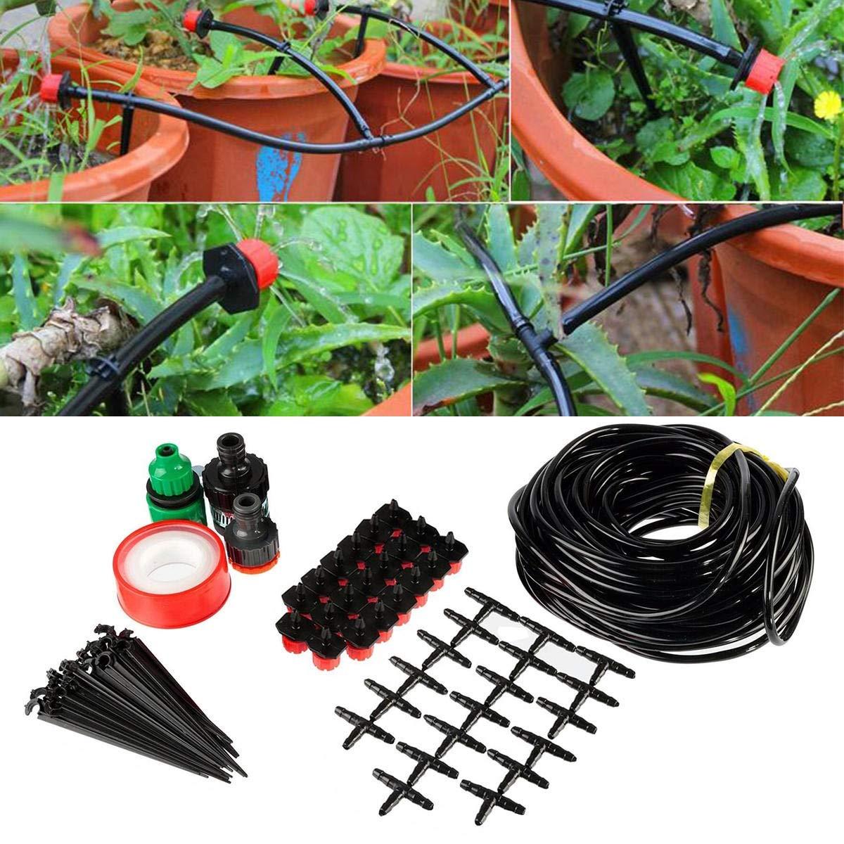 Subobo Kits de riego por Goteo, Jardín Kit Sistema de riego por aspersión riego automático 15M