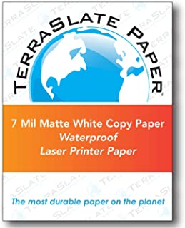 "TerraSlate Paper 7 MIL 8.5"" x 11"" Waterproof Laser Printer/Copy Paper 250 Sheets"