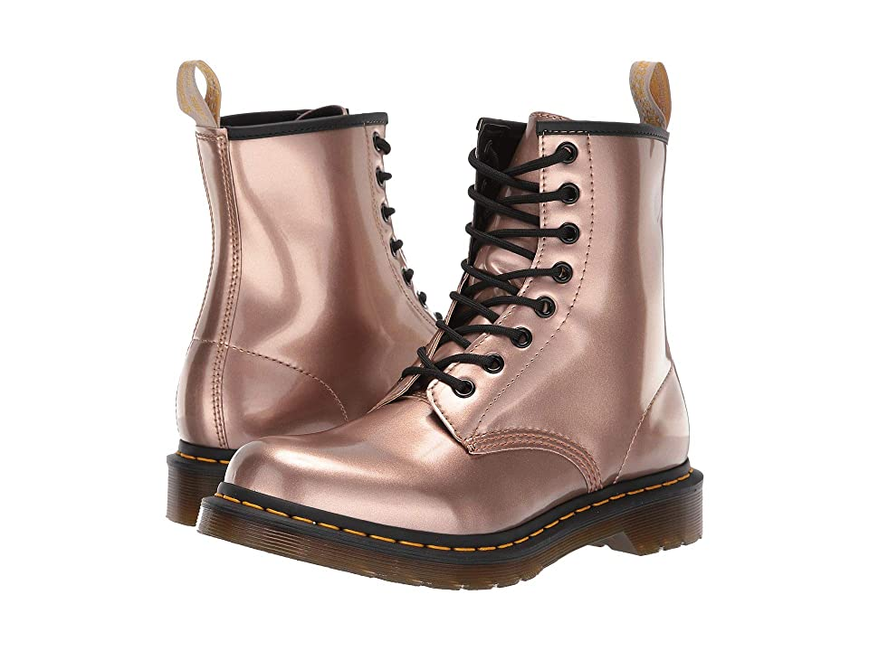 Dr. Martens 1460 Vegan Chrome Metallic (Rose Gold) Women