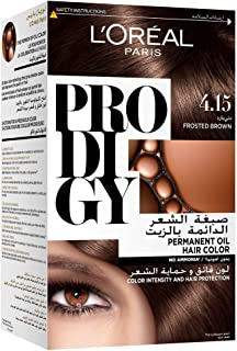 L'Oreal Paris Prodigy Permanent No Ammonia Hair Color, 4.15 Frosted Brown
