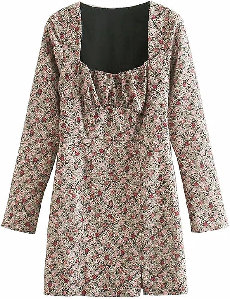 Eaeuuopy Dress Fashion Women Retro Ladie Floral Print 55% OFF Columbus Mall Sexy