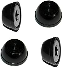 (4) Radio Flyer Replacement Large Wheel Hub Caps for Steel & Wood Wagons, 1/2