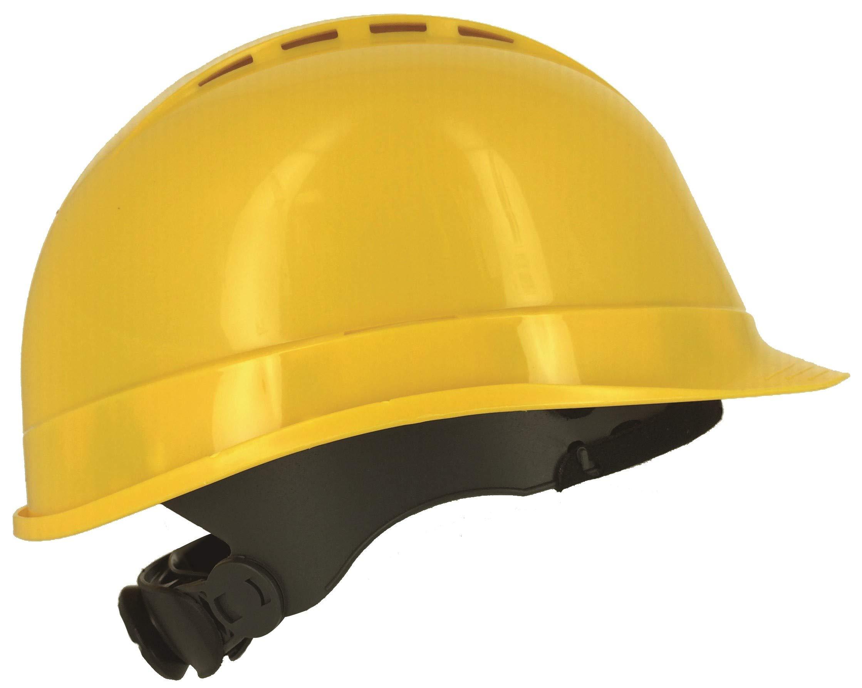 Silent SL1470 Casco de seguridad industrial, sombrero duro de construcción, ventilado, arnés de 6 puntos, certificado EN 397 y A1, amarillo: Amazon.es: Bricolaje y herramientas