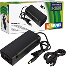 SFPC Xbox 360 E Power Supply, Compatible with Xbox 360E Power Adapter, Power Supply Cord AC Adapter Replacement Charger for Xbox 360 E, 100-240V Auto Voltage