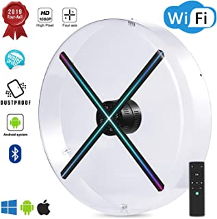 2019 Premium 3D Hologram Fan ,Four-Axil Design Hologram Projector , Android Smart Operating System ,Holographic Advertising Fan Upload by APP /TF Card/Cloud Serve ,Support WiFi+Bluetooth