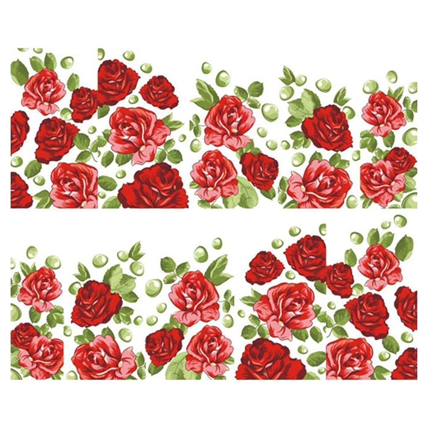 学習者法律により静かにSODIAL(R) 綺麗な花装飾 水転写プリント ネイルアートマニキュア(SY1602)