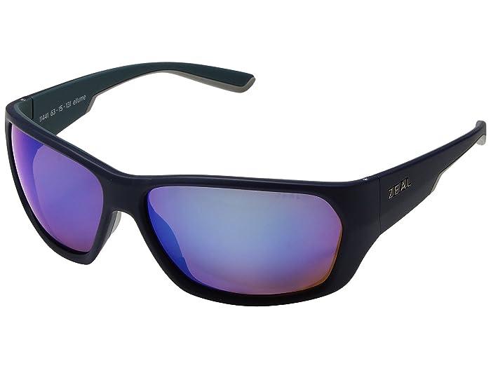 Zeal Optics  Caddis (Atlantic Blue with Polarized Horizon Blue Lens) Polarized Fashion Sunglasses
