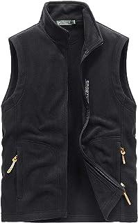 FEOYA Mens Polar Fleece Vest with Pockets Soft and Cozy Sports Mountain Fishing Winter