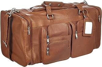 Viosi Malibu 22 Inch Full Grain Leather Duffel Travel Bag Sports Gym Bag Weekender Overnight Luggage