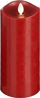 Ganz LuxuryLite Home Decor Flameless LED Wax Pillar Candle 3 x 8- Red
