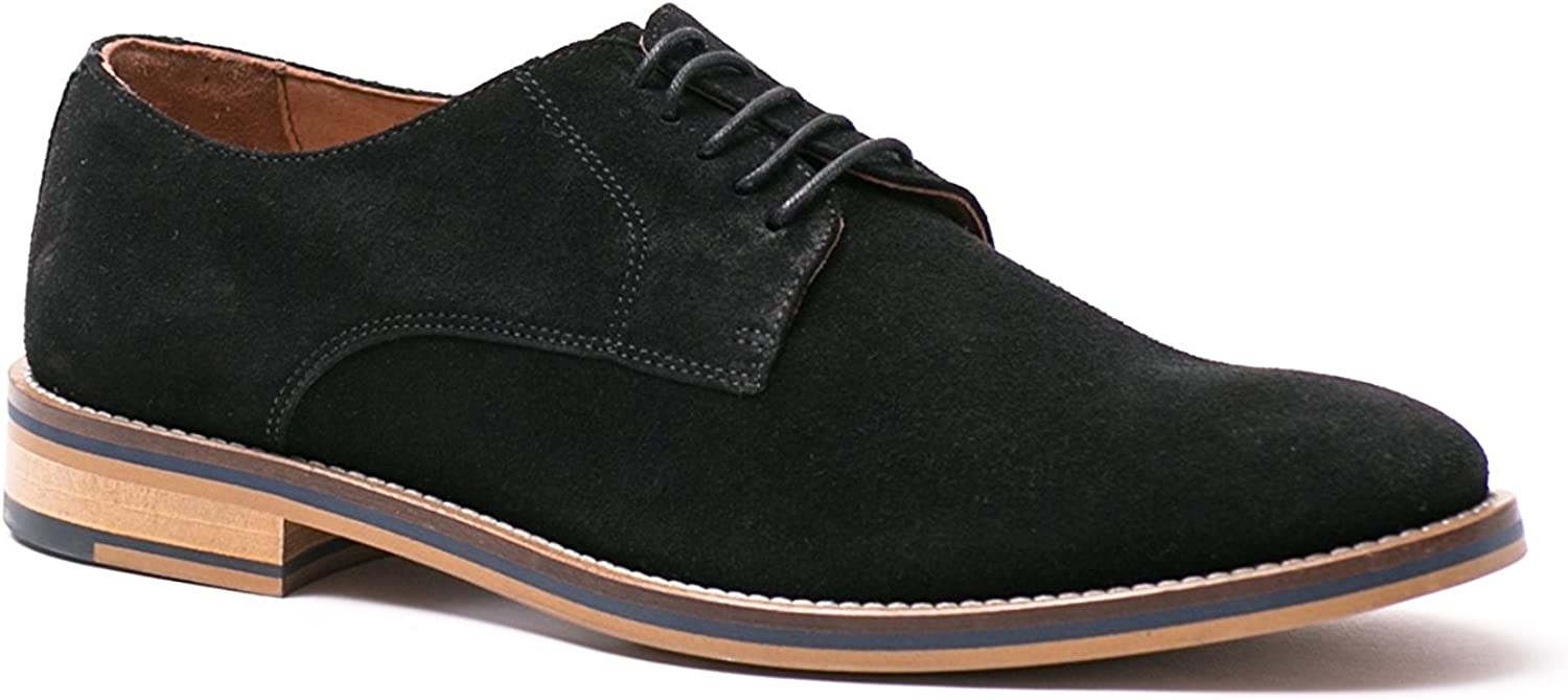 Supply Lab Men's Evan Black Suede Lace up Dress Casual