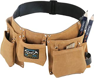 Real leather kids tool belt - gift set with a real tool belt just like dad's, mom's, or Grandpa's!