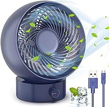 TedGem Mini USB Fan Draagbare Koelventilator, Desktop Fan met USB Turbo Fan 180 Soorten windsnelheid Ervaring, USB Desktop...