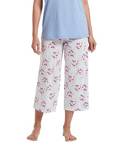 HUE Flamingals Capris (White) Women
