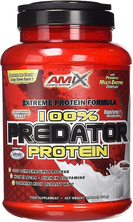 Amix - Proteína Predator Protein, Favorece el Crecimiento Muscular, Rica en BCCAs y Glutamina, Fácil Digestión, Baja en Grasas, Proteína en Polvo, 1 ...