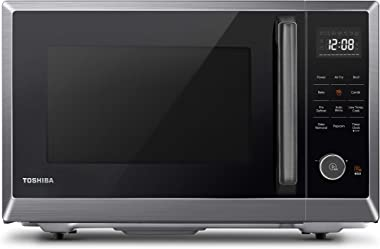 Toshiba ML2-EC10SA(BS) Multifunctional Microwave Oven with Healthy Air Fry, Convection Cooking, Position Memory Turntable, Ea