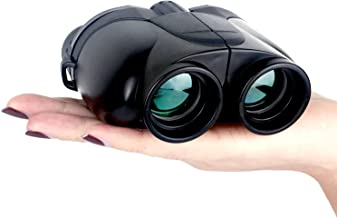 Compact Pocket Outdoor Binoculars, 10x25 Large Eyepiece, Night Vision, High-Powered Waterproof Outdoor Binoculars for Children and Adults Bird Watching, Concerts, Camping, Hunting (Black)