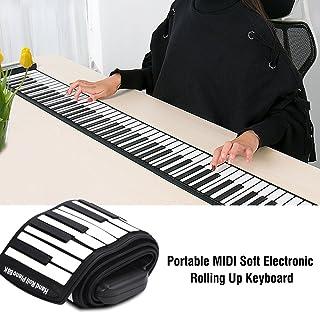 Portable Flexible 88 Keys Electronic Keyboard Hand Rolling U