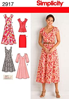 Simplicity 2917 Dress and Tunic Sewing Pattern for Women by Karen Z,Sizes 10-18