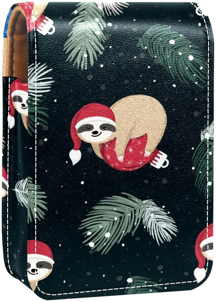 Makeup Lipstick Case For Outside Max It is very popular 63% OFF Winter Animal Patter Sloth Cute