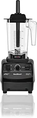OmniBlend I Commercial Blender for Smoothies, Heavy Duty Variable Speed & Pulse, Self-Cleaning, 2-in-1 Wet Dry Multifunctional, 1.5 Liter BPA-Free Shatter-Proof Jar (Black)