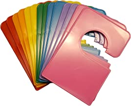 14 Blank Rainbow Closet Dividers 5.25x3.5 Inches Plus Sorting Labels