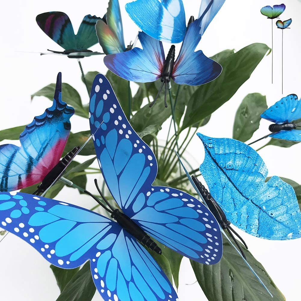 V-Time Manufacturer direct delivery 24pcs Garden Butterfly Popularity Decorations Outdoor Waterproof But