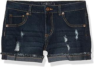 Lucky Brand Girls' 5-Pocket Cuffed Stretch Denim Short