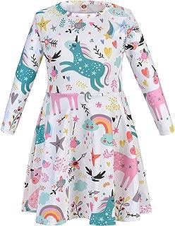 Áo quần dành cho bé gái – Girl's Casual Dress Toddler Kids Holiday Party A-Line Dresses 4-13 Years