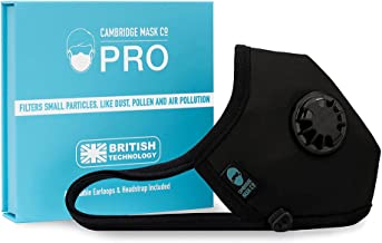 Cambridge Mask Co Pro Mask Pollution Face Mask with Upgraded Filter for Biking, Cycling, Running Reusable, Washable, Adjus...