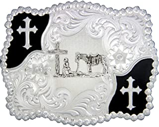 Montana Silversmiths Men's Cowboy And Crosses Buckle - 3611-731M
