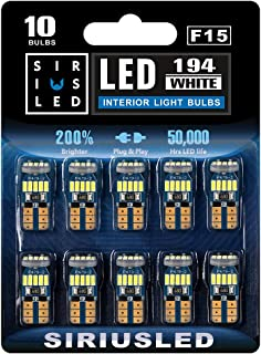 SIRIUSLED -F15- 194 LED Bulbs Extremely Bright 4014 Chipset for Car truck Interior Dome Map Door Courtesy Marker License P...
