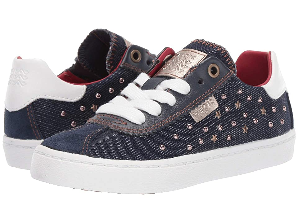 Geox Kids Kilwi Girl 41 (Little Kid) (Navy) Girl