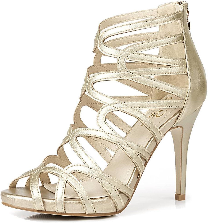 LizForm Women Crisscrossed Platform Sandal shoes Wedding Dress Pumps Strappy High Heel shoes