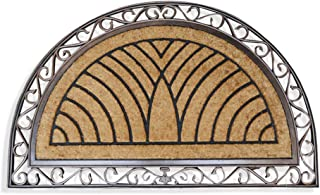 """A1 Home Collections LLC A1HOME200083 Rubber Coir Heavy Doormat, 30"""" X 48"""", Half Round Bronze"""