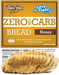 ThinSlim Foods 45 Calorie, 0g Net Carb, Love-The-Taste Low Carb Bread Honey