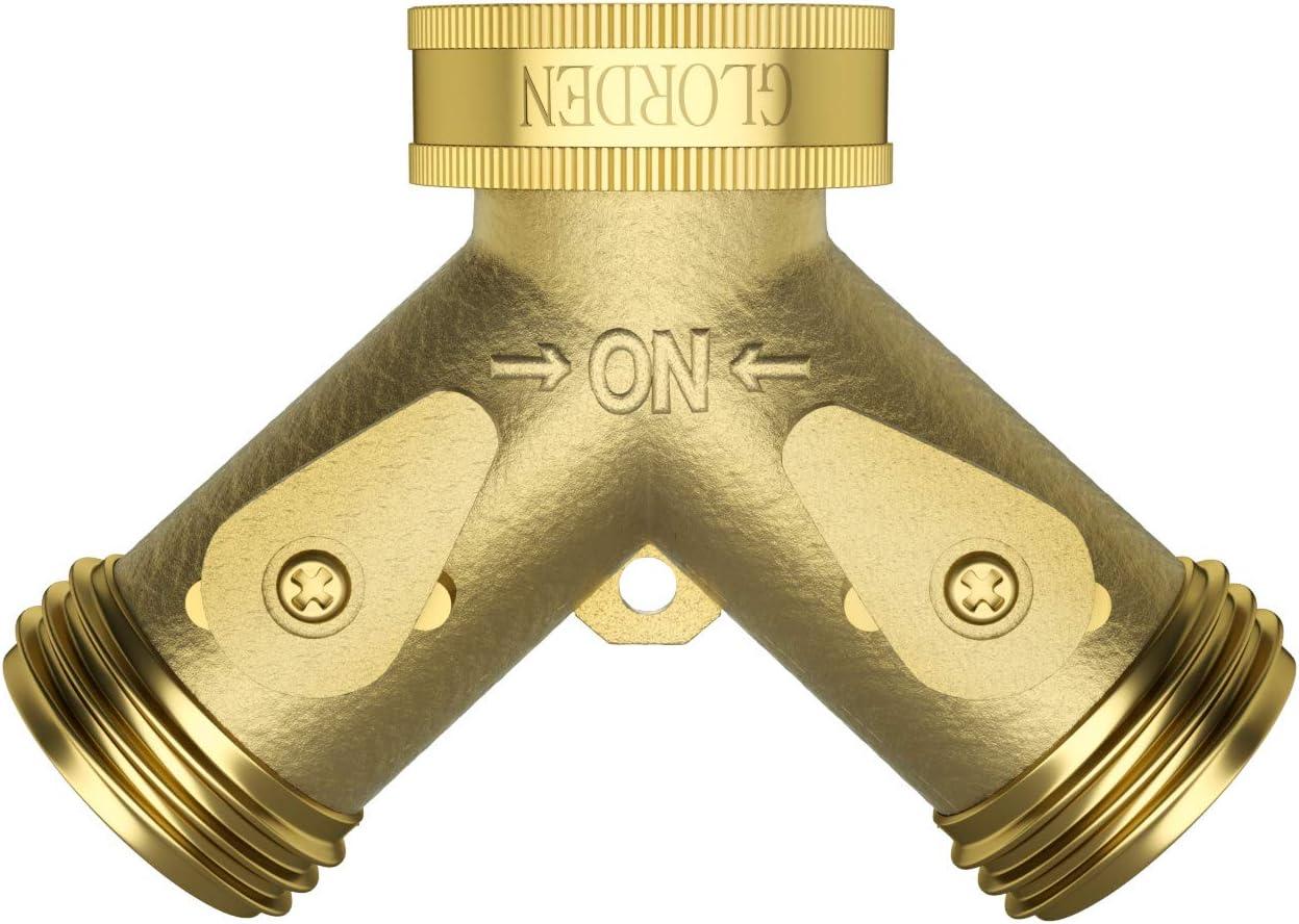 GLORDEN Heavy Duty Brass Sale Garden 2 Way Recommendation Splitter Hose