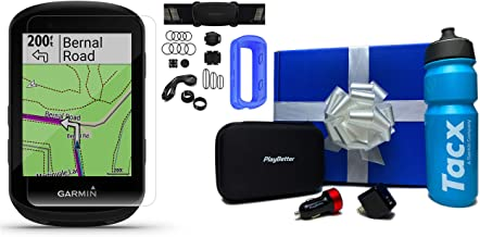 Garmin Edge 530 (2019 Version) Beat Yesterday Gift Box Bundle | +TacX/PlayBetter Water Bottle, PlayBetter Silicone Case, HD Screen Protectors, Adapters & Protective Hard Case (Blue, Sensor Bundle)