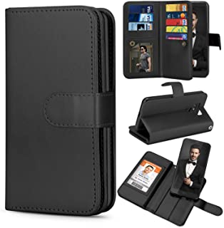 TILL for LG G6 Case, TILL LG G6 Wallet Case PU Leather Carrying Flip Cover [Cash Credit Card Slots Holder & Kickstand] Detachable Magnetic Folio Slim Protective Hard Case Shell for LG6 5.7INCH [Black]
