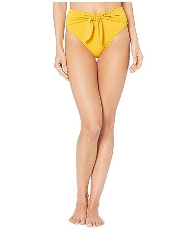 Robin Piccone Ava High-Waist w/ Front Tie Bottoms (Marigold) Women