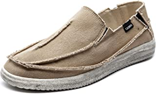 CASMAG Men's Casual Loafers Cloth Boat Shoes Canvas Slip On Outdoor Deck Walking Shoes Sneakers Moccasin