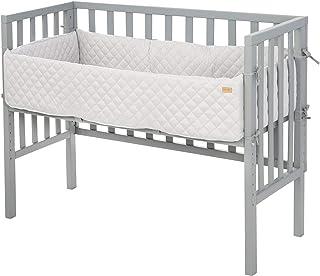 roba Beistellbett 2in1 grau Style für alle Elternbetthöhen inklusive Matratze Nestchen und Barriere 8970TP-8V230