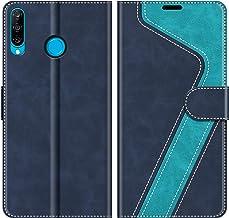 MOBESV Custodia Huawei P30 Lite, Cover a Libro Huawei P30 Lite, Custodia in Pelle Huawei P30 Lite Magnetica Cover per Huawei P30 Lite, Elegante Blu